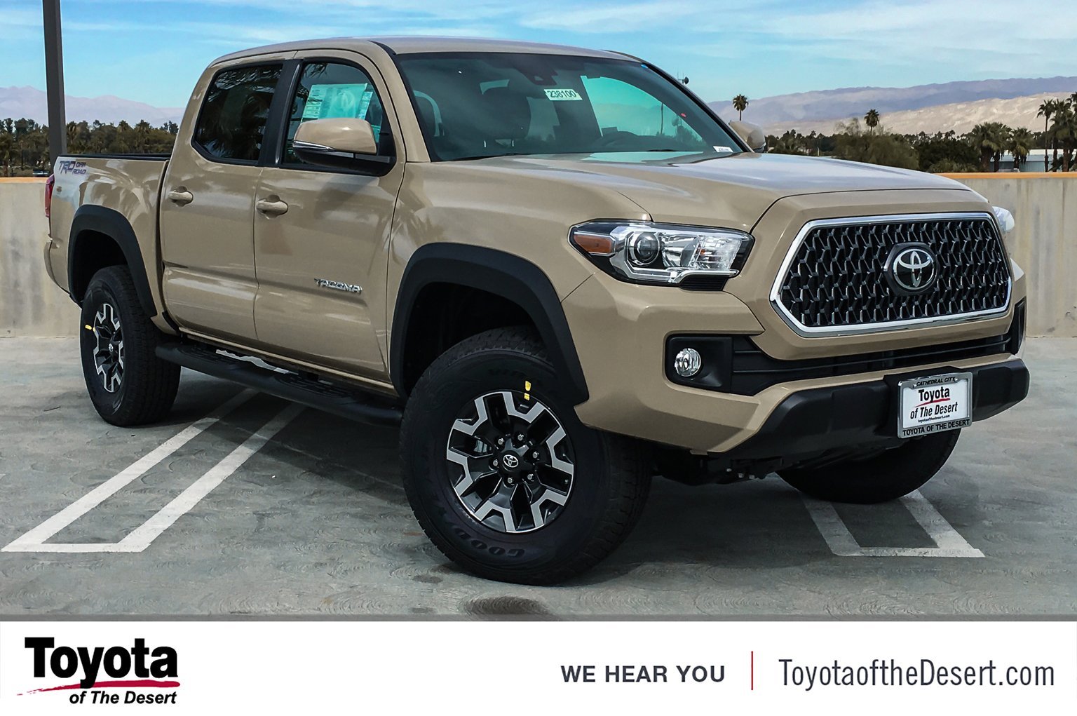 New 2019 Toyota Tacoma 2wd Trd Off Road Double Cab In Cathedral City