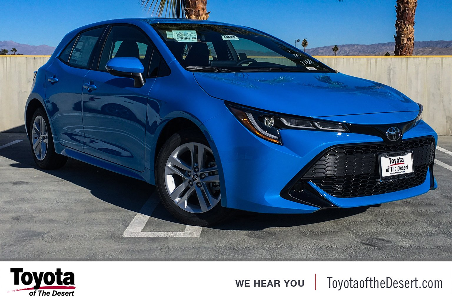 New 2019 Toyota Corolla Hatchback Se Hatchback In Cathedral City