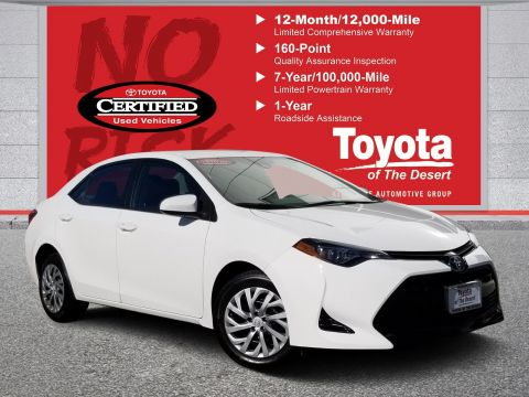 Certified Used Toyota >> Certified Pre Owned Toyotas Palm Springs Toyota Of The